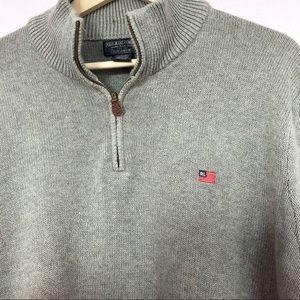 Polo Jeans Company | flag logo 1/4 zip sweater- Lg